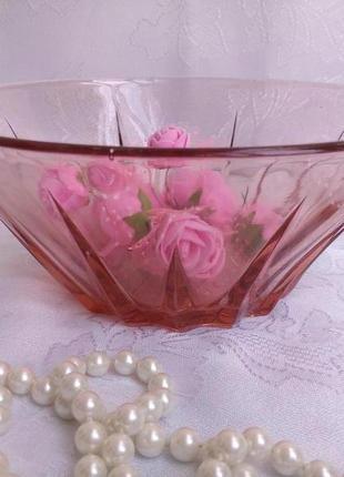 Салатник ссср конфетница, фруктовница карамельное цветное стекло винтаж