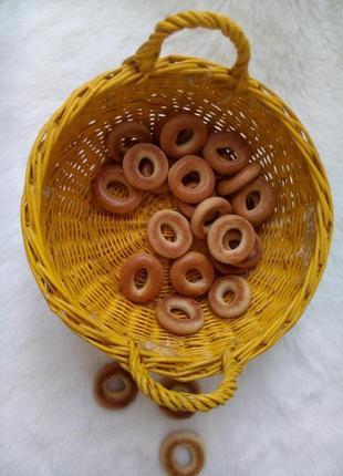 Корзина плетеная фруктовница конфетница винтаж лоза в эмали желтая корзинка