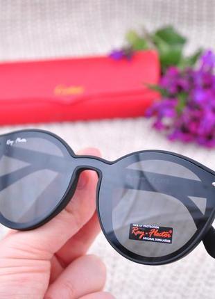 Солнцезащитные круглые матовые очки ray flector rf