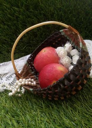 Корзина плетеная ссср фруктовница конфетница лукошко лоза винтаж советское
