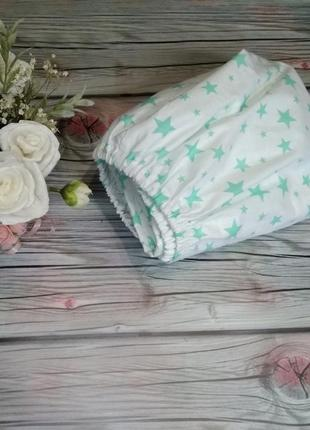 Простынь на резинке в кроватку