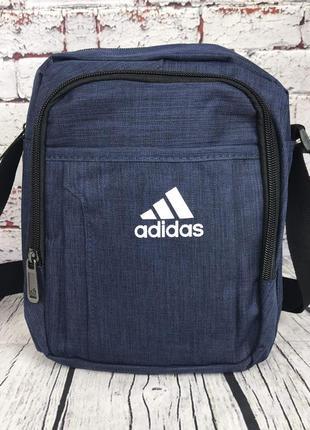 Спортивная сумка-барсетка через плечо adidas .тканевая сумка. кс137