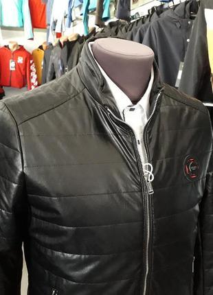 Куртка кожанка мужская