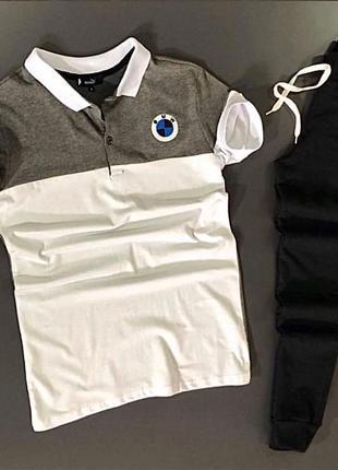 Комплект поло футболка штани спортивний костюм