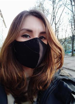 Защитная маска многоразовая, защитные многоразовые маски взрослые и детские