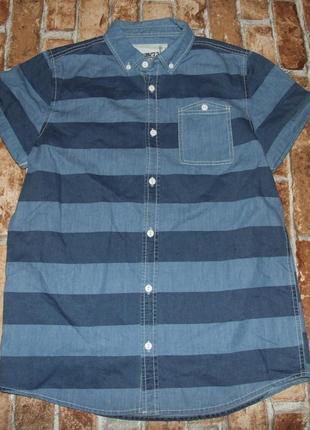 Джинсовая рубашка тениска мальчику 12 - 13 лет denim co