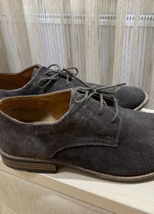 Кожаные туфли topman на размер 42 по стельке 28см