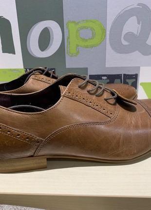 Кожаные туфли броги taylor & wright edition размер 9 или 43