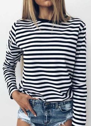 Новинка🔥крутая кофта футболка в полоску/морячка/в расцветках/супер качество 👍