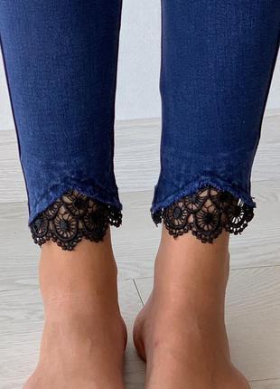 🔥новинка🔥джеггинсы/лосины/джинсы с кружевом/супер качество/бомба цена🙀