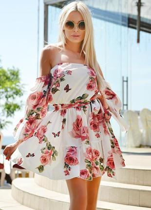 Сарафан платье цветы