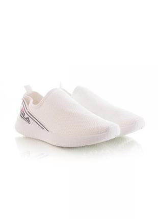 Белые текстильные мокасины кеды кроссовки слипоны сетка
