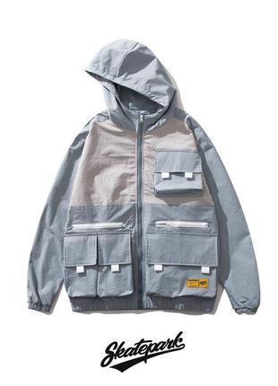Стильная двухцветная куртка ветровка (m-2xl)😍