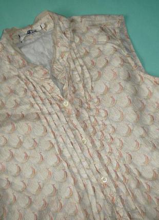 Рубашка без рукавов c принтом павлины