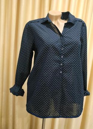 Красивая блузка в принт  из тоненького хлопка