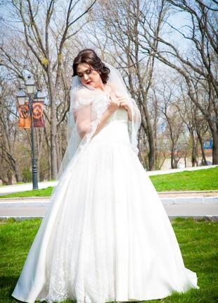Платье свадебное на большую грудь