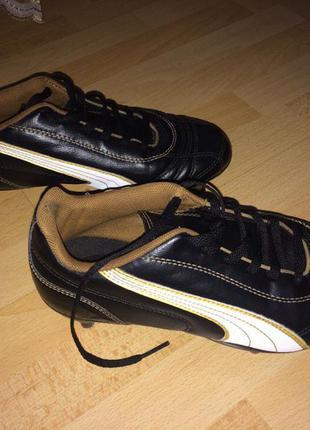 Футбольные бутсы puma,кожа , размер 35,5