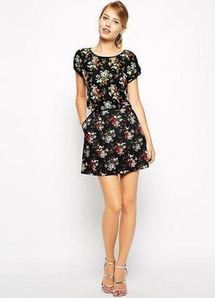 Весна пришла! плотная юбка в цветочный принт