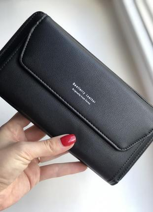Женский клатч-кошелек baellerry leather black