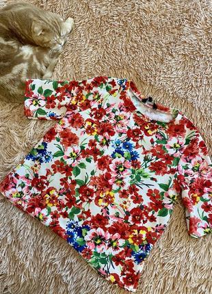 Блуза в цветочный принт от new look