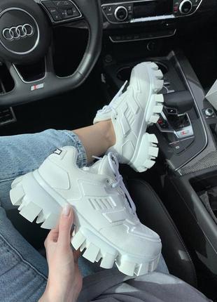 Кроссовки prada cloudbust white кросівки