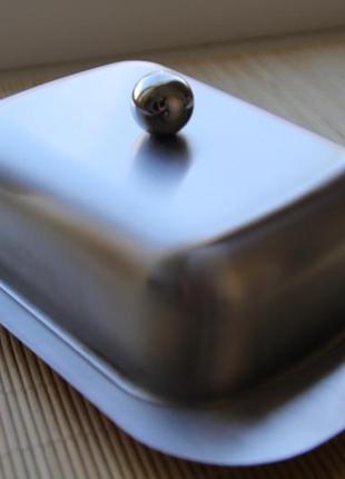 Масленка с крышкой hoffner (матовая)
