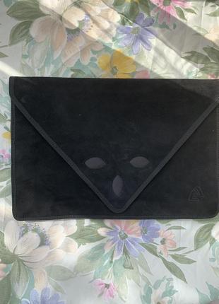 Сумка клатч конверт замш винтаж hand made ретро