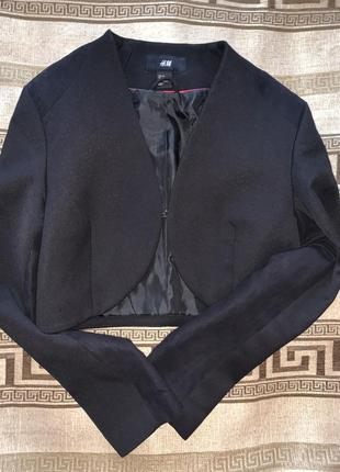 Пиджак со вставками замши, размер 8