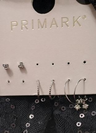 Сережки primark. 3 пары.