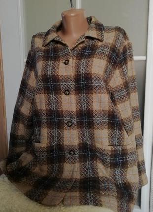 Жакет-рубашка шерсть