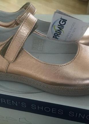 Кожаные туфли балетки primigi р34