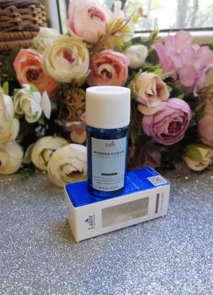 Увлажняющее масло для зеркального блеска и гладкости волос la'dor wonder hair oil, 10 мл