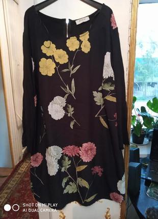 Платье-туника в цветочный принт