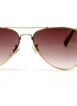 Солнцезащитные очки авиаторы ray ban коричневые линзы