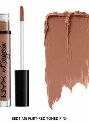 Nyx professional makeup lip lingerie liquid lipstick жидкая стойкая матовая помада