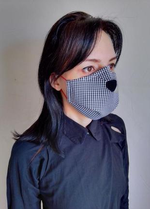 Маска захисна 3х-слойна,багаторазова. маска защитная ,многоразовая