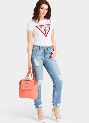 Городской рюкзак сумка guess гесс violet коралловый оригинал сша