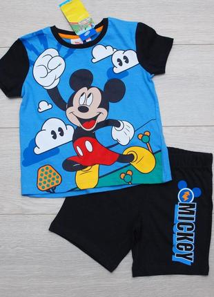 Летний костюм для мальчика микки маус футболка и шорты pepco 98-128