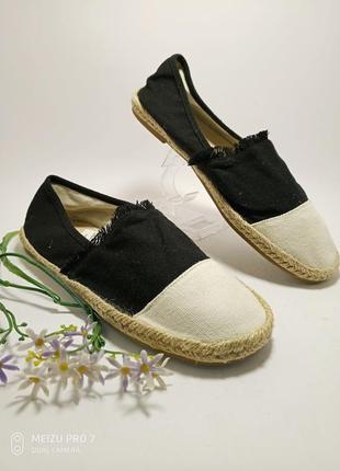 Esmara, текстильние натуральние тапочки еспадрильи от немецкого бренда