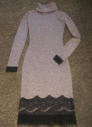 Плаття ангора меланж +кружево