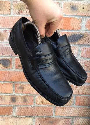 Мужские кожаные туфли bugatti размер 45 (29 см.)