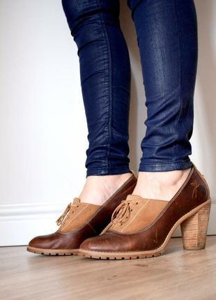 Крутые кожаные туфли в стиле винтаж timberland 40р-р в идеальном состоянии