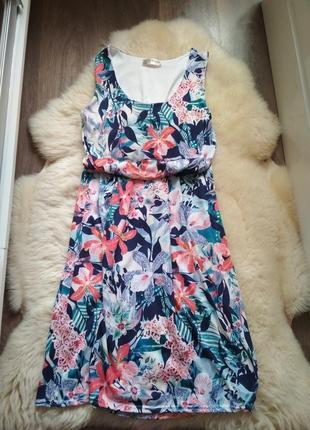 Плаття - сарафан,  довге, квіткове