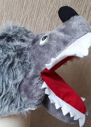 Карнавальная шапка-маска волк