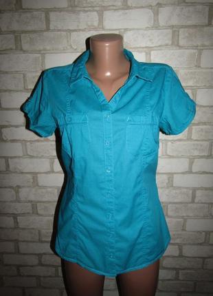 Натуральная рубашка р-р 38-12 бренд clockhouse