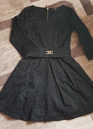 Шикарное жаккардовое платье / маленькое чёрное платье / little black dress