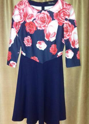 Платье с розами bestia