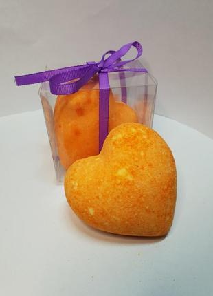 "Бомбочка для ванны сердце ""абрикос"""