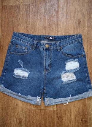 Джинсовые шорты boohoo
