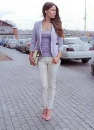 Жакет блейзер пиджак лаванда атлас франция